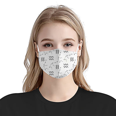 Aquarius Constellation Pattern EZ08 1904 Face Mask - Hyperfavor