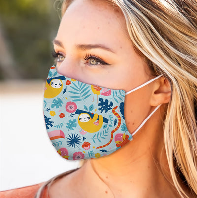 Adorable Sloths And Pattern EZ13 2905 Face Mask - Hyperfavor