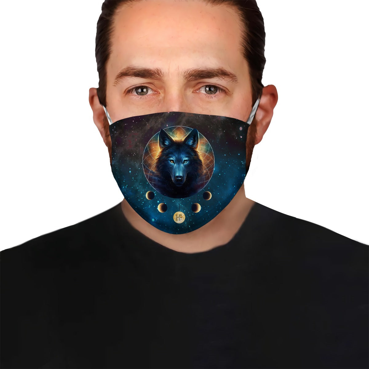 Premium Alpha Wolf Moon Dreamcatcher EZ09 2004 Face Mask - Hyperfavor