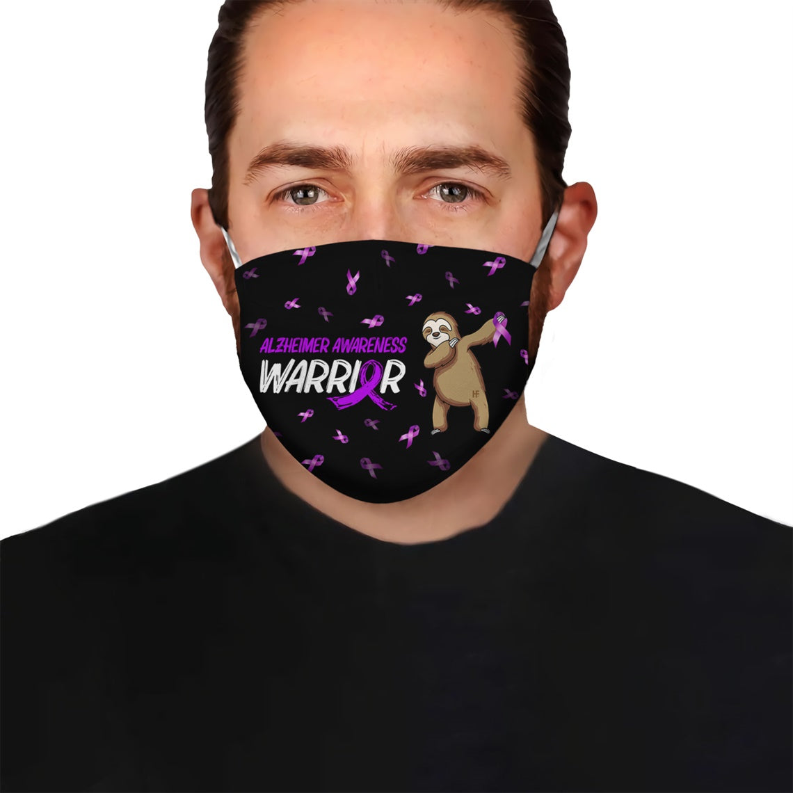 Alzheimer Awareness Warrior EZ15 2905 Face Mask - Hyperfavor