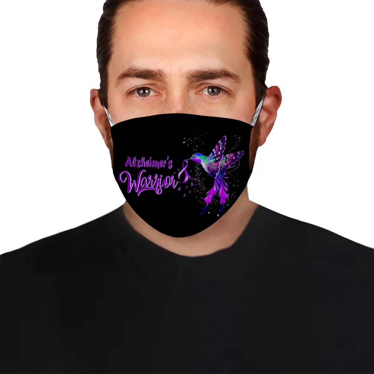 Alzheimer's Hummingbird EZ10 1704 Face Mask Black - Hyperfavor