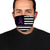 American Flag Alzheimer's Awareness EZ10 2304 Face Mask - Hyperfavor