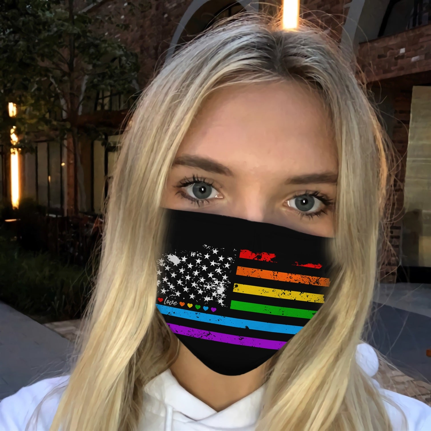 American Flag LGBT Gay Pride EZ14 0506 Face Mask - Hyperfavor