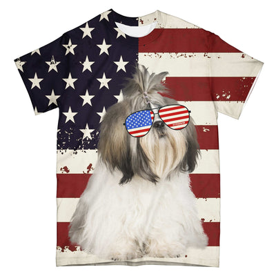 American Shih Tzu Fun EZ03 2603 All Over T-Shirt - Hyperfavor