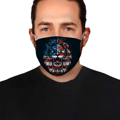 Premium Lion America Flag EZ05 1704 Face Mask - Hyperfavor