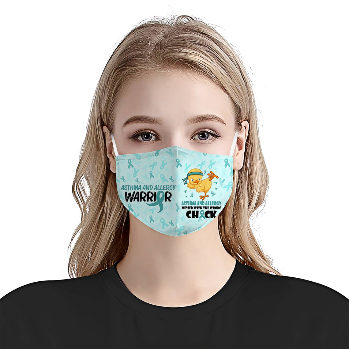 Asthma And Allergy Awareness Chick EZ01 0405 Face Mask - Hyperfavor