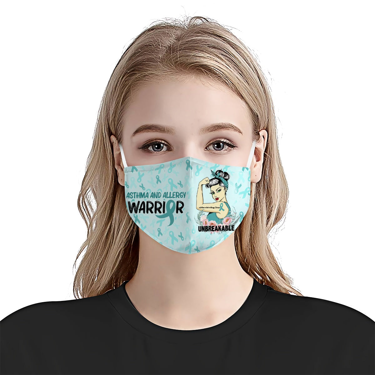 Asthma And Allergy Awareness Unbreakable EZ01 2904 Face Mask - Hyperfavor