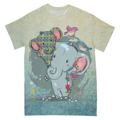 Autism Elephant Mom You Never Walk Alone EZ06 2503 All Over T-Shirt - Hyperfavor