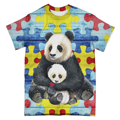 Autism Panda Mom EZ09 0304 All Over T-Shirt - Hyperfavor