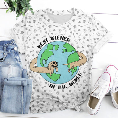BEST WIENER IN THE WORLD EZ16 1908 All Over T-Shirt - Hyperfavor