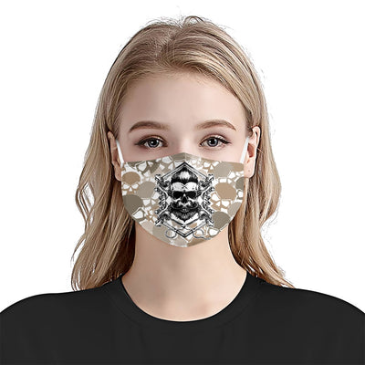 Barber Shop Skulls Camouflage EZ02 1505 Face Mask - Hyperfavor