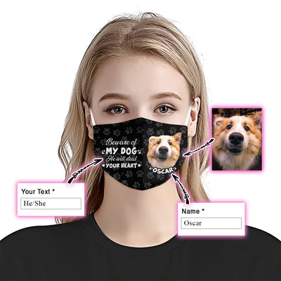 Beware Of My Dog Custom Dog Face EZ02 2206 Custom Face Mask - Hyperfavor