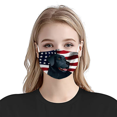 Black Labrador Retriever American Flag 1 EZ07 1504 Face Mask - Hyperfavor
