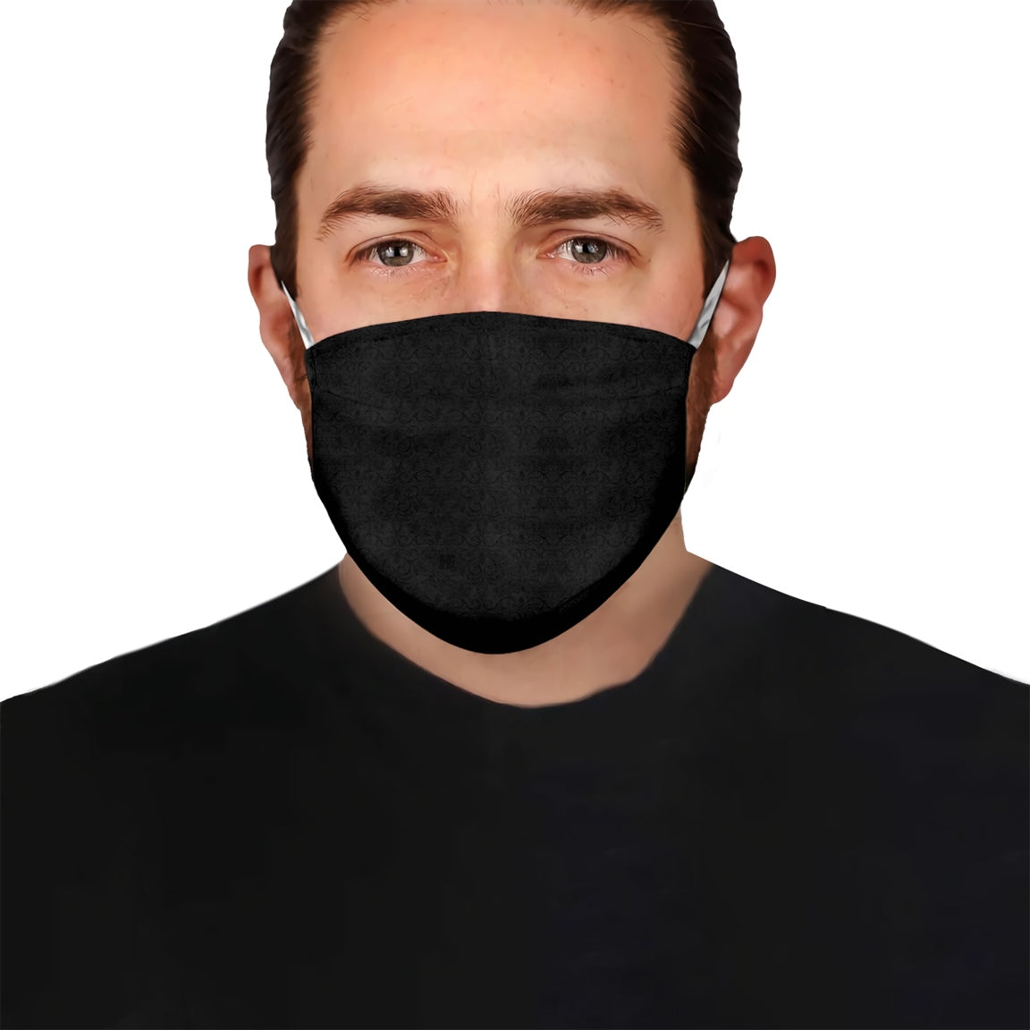 Black Pattern V4 EZ15 0606 Face Mask - Hyperfavor