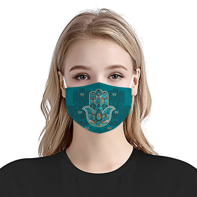 Blue Hamsa EZ07 1404 Face Mask - Hyperfavor