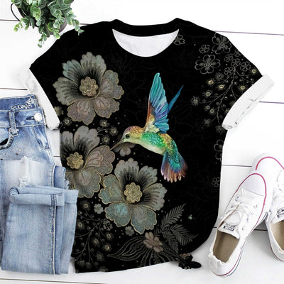 Blue Hummingbird EZ08 1508 All Over T-shirt - Hyperfavor