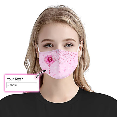 Breast Cancer Awareness Sunflower EZ10 2105 Custom Face Mask1 - Hyperfavor