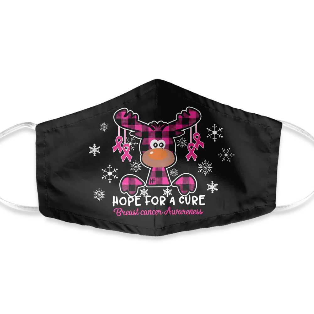Breast Cancer Awareness Christmas Xmas Hope 01 EZ01 1210 Face Mask