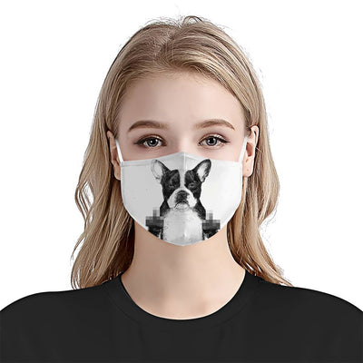 Premium Bulldog Art Version 03 EZ09 1504 Face Mask - Hyperfavor