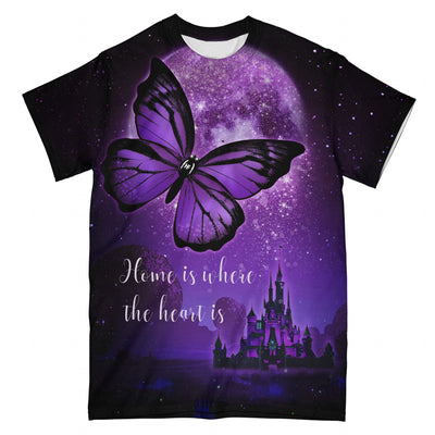 Butterfly Home Is Where The Heart Is EZ08 0304 All Over T-shirt - Hyperfavor