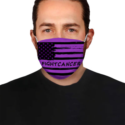 Premium American Flag 02 Alzheimer's Awareness EZ09 1704 Face Mask - Hyperfavor