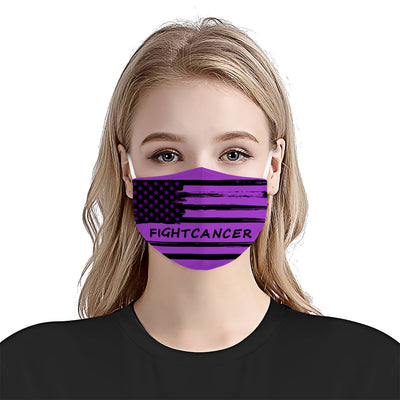 Premium American Flag 02 Cystic Fibrosis Awareness EZ09 1704 Face Mask - Hyperfavor