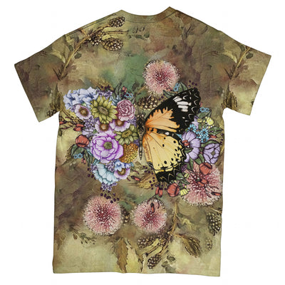 Butterfly In Bloom EZ08 2603 All Over T-shirt - Hyperfavor