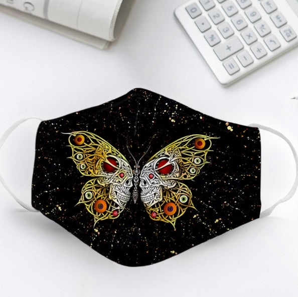 Butterfly Skulls EZ13 1806 Face Mask - Hyperfavor