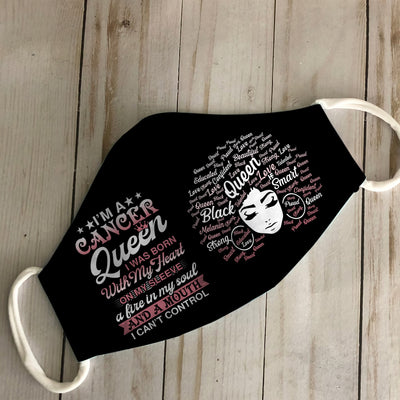 Cancer Queen Black Queen EZ06 1305 Face Mask - Hyperfavor