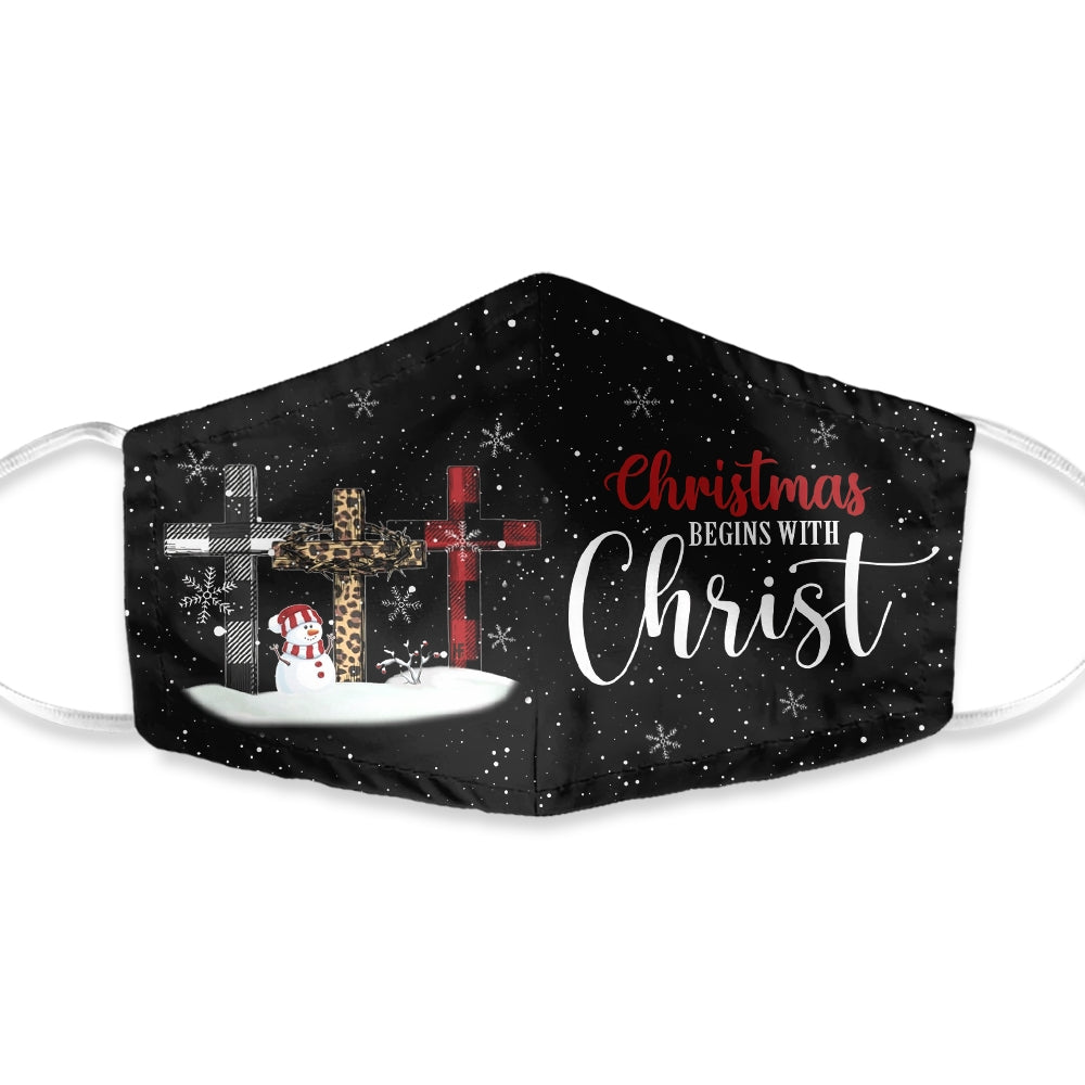 Christmas Begin With Christ EZ05 1010 Face Mask