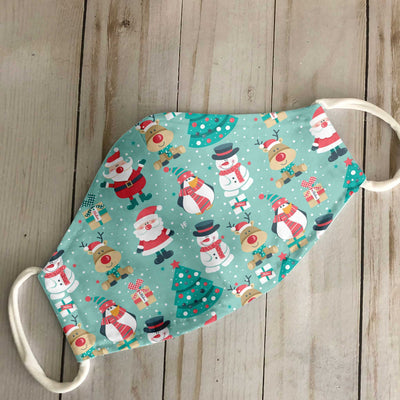 Christmas Seamless Pattern 2 EZ14 1010 Face Mask - Hyperfavor