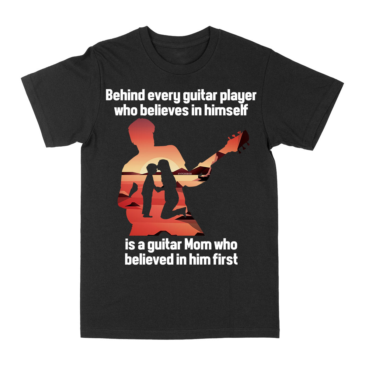Mom Behind Guitar Player EZ10 3103 Classic T-shirt