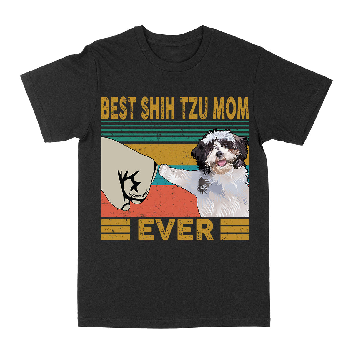 Best Shih Tzu Mom Ever Vintage EZ03 2703 Classic T-shirt