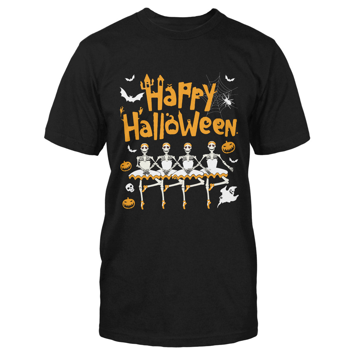 Ballet Skeleton Dance Happy Halloween EZ05 1009 Classic T-shirt