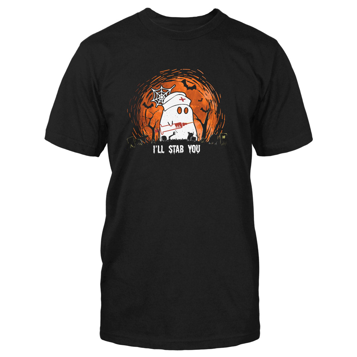 I'll Stab You Halloween Nurse EZ05 1209 Classic T-shirt