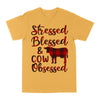 Stressed Blessed Cow Obssesed EZ03 3103 Classic T-shirt - Hyperfavor