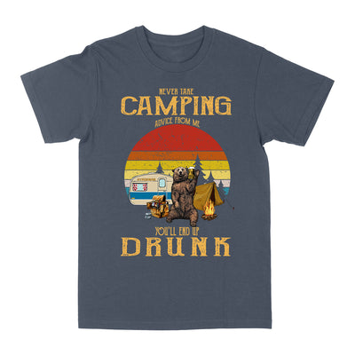 Never Take Camping Advice From Me EZ03 0604 Classic T-shirt - Hyperfavor