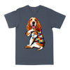 Basset Hound Autism Awareness Peace Love EZ06 0504 Classic T-shirt - Hyperfavor