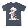 Bichon Frise Autism Awareness Peace Love EZ06 0504 Classic T-shirt - Hyperfavor