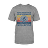 Old Woman With A Bicycle EZ03 2908 Classic T-shirt - Hyperfavor