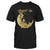 Gradient Gold Blessed Be Crescent Moon With Roses Witch Wicca EZ20 0710 Classic T-shirt