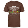 Thanksgiving 2020 Melanin Queen Giving Thanks That The Year Is Almost Over EZ16 0710 Classic T-shirt - Hyperfavor