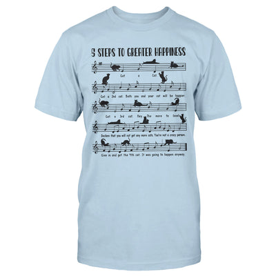 Sheet Cat Music 5 Steps To Greater Happiness EZ06 1809 Classic T-shirt - Hyperfavor