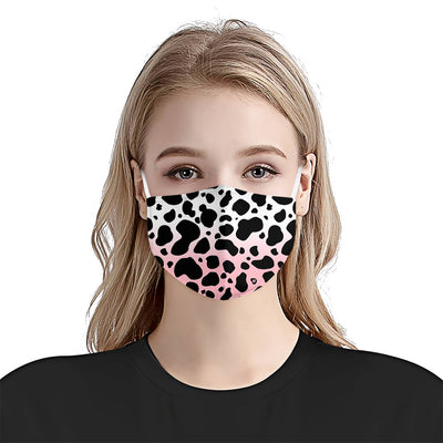 Cow Spots Pattern Transparent EZ07 2205 Face Mask - Hyperfavor
