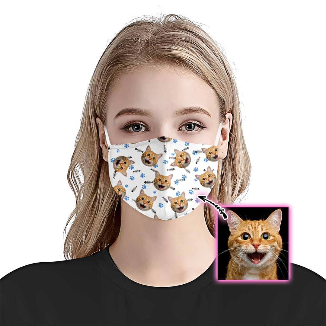Custom Cat Bone Paw EZ10 1805 Custom Face Mask - Hyperfavor