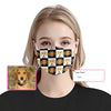 Customized Dachshund Face & Name Checkerboard EZ07 2205 Custom Face Mask - Hyperfavor