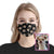 Custom Face Dog Black Pattern EZ07 1805 Custom Face Mask - Hyperfavor