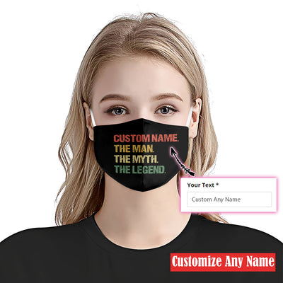 Custom The Man The Myth The Legend EZ03 2105 Custom Face Mask - Hyperfavor