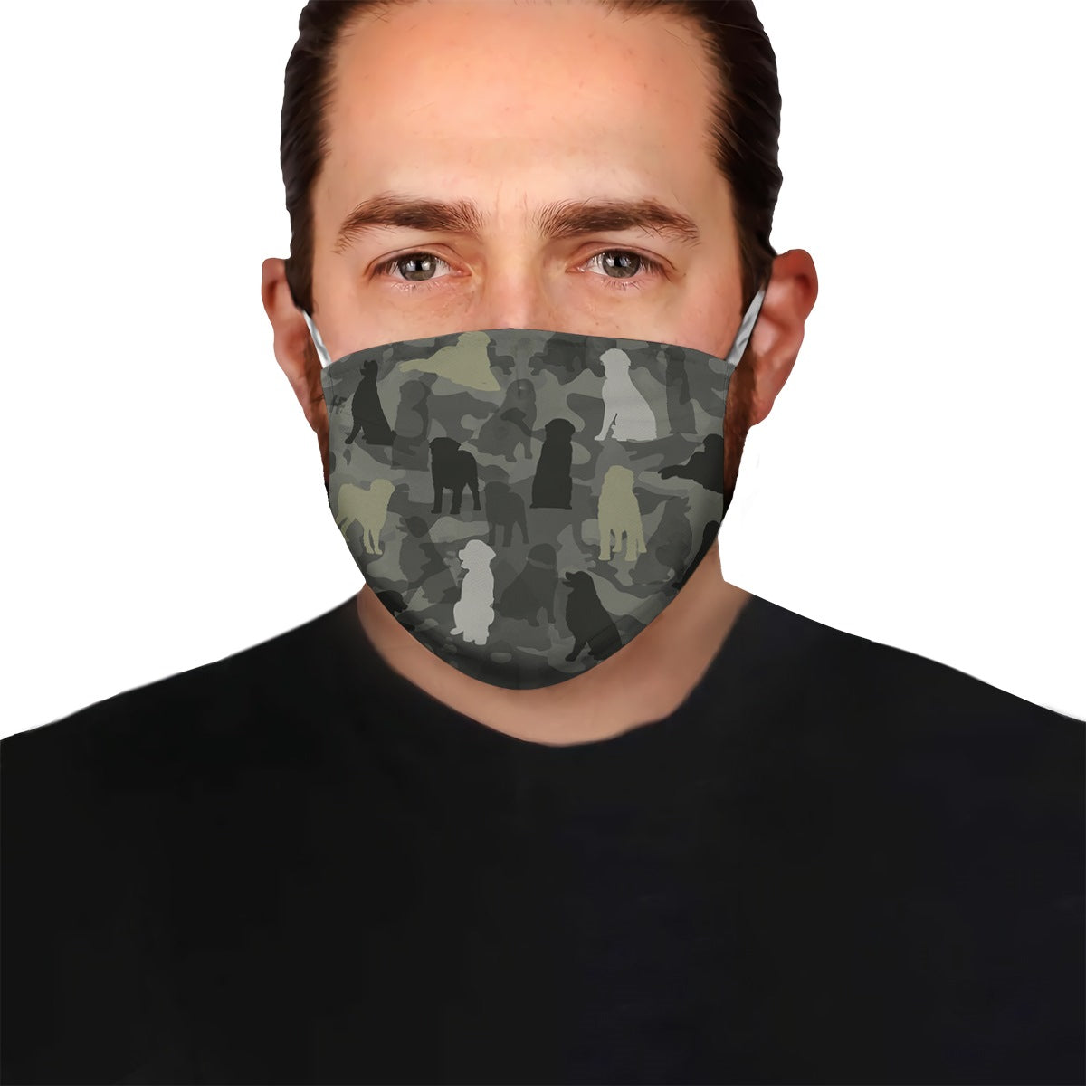 Cute Bernese Mountain Camo EZ07 1604 Face Mask - Hyperfavor