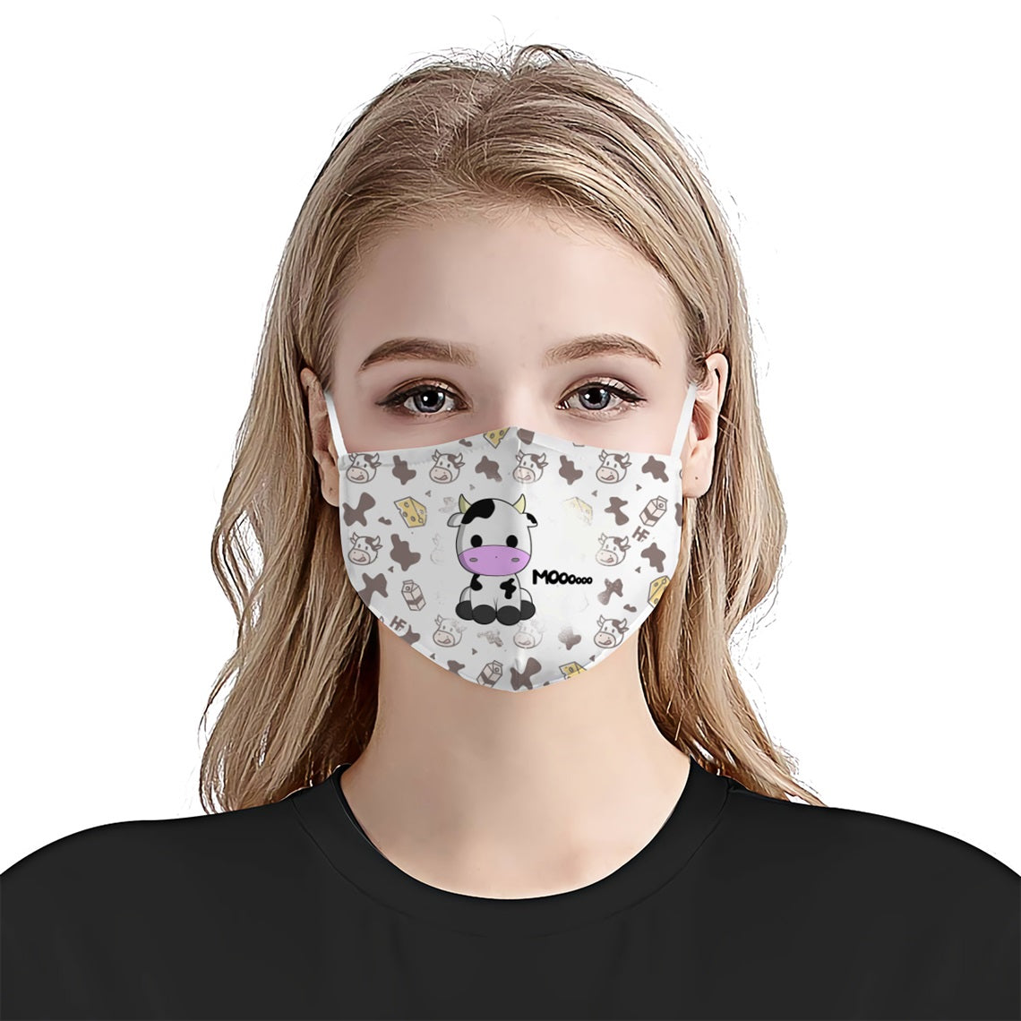 Cute Cow Mooo EZ17 0806 Face Mask - Hyperfavor